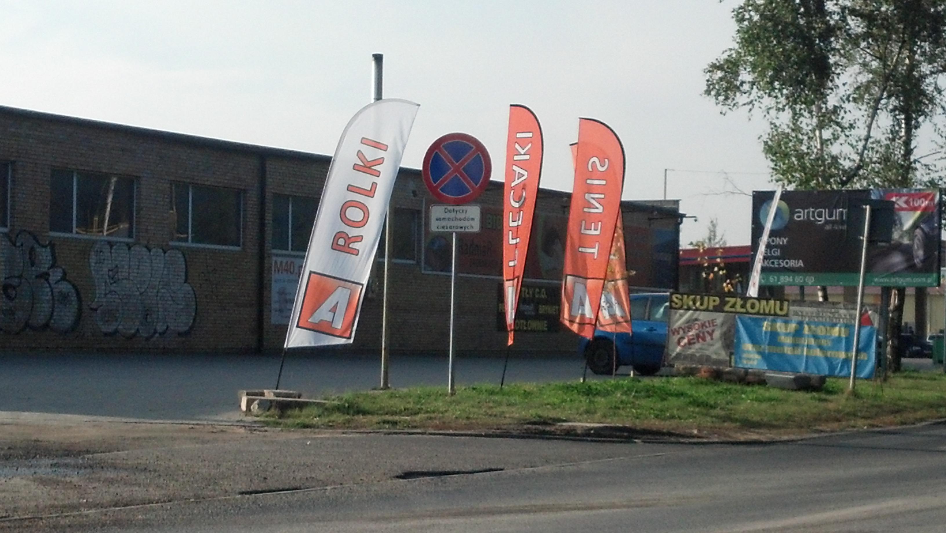 Zestaw flag reklamowych Poznań