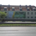 Reklama na siatce mesh Uniwersystet Przyrodniczy
