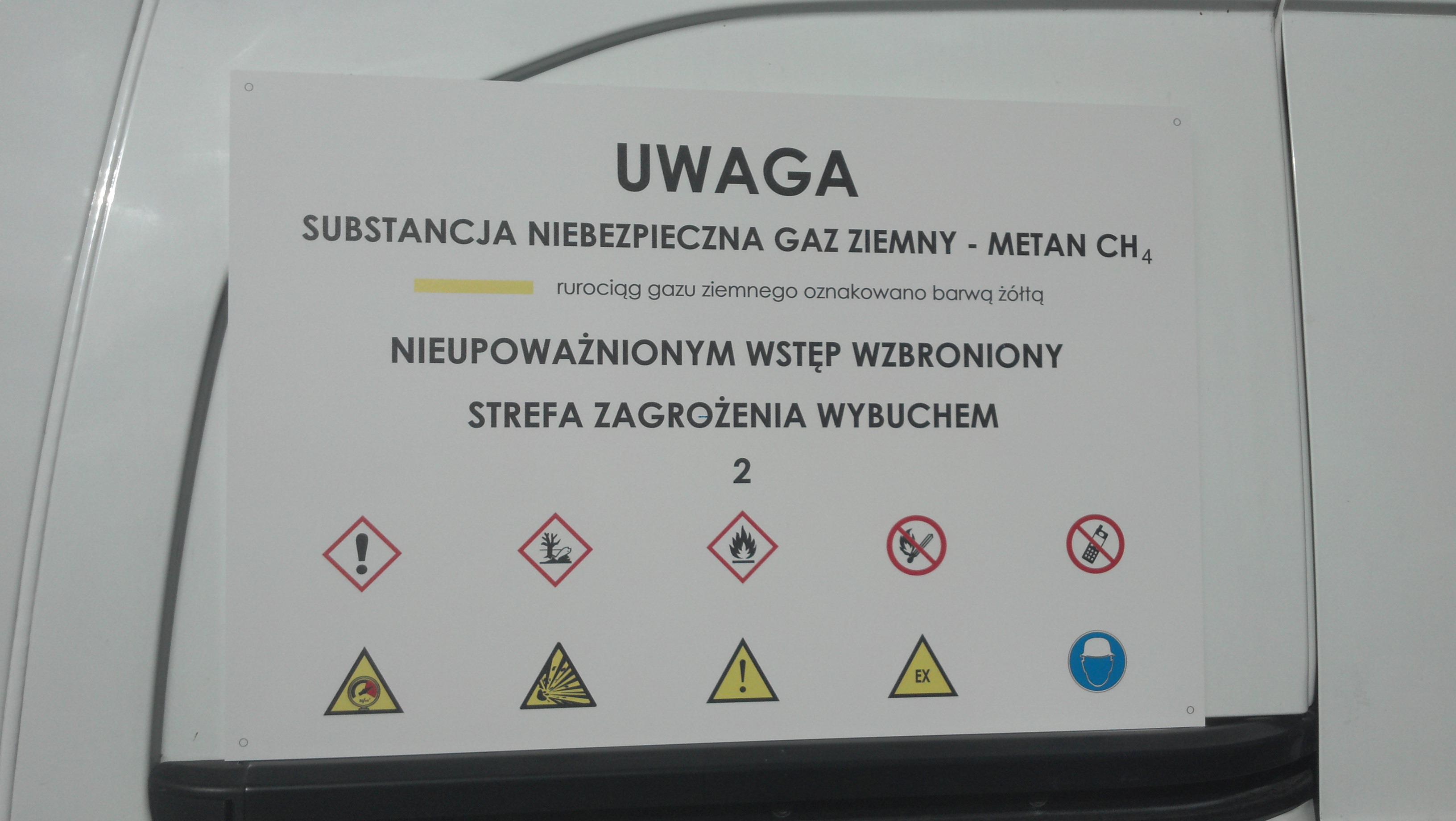 Tablica ostrzegawcza BHP dibond