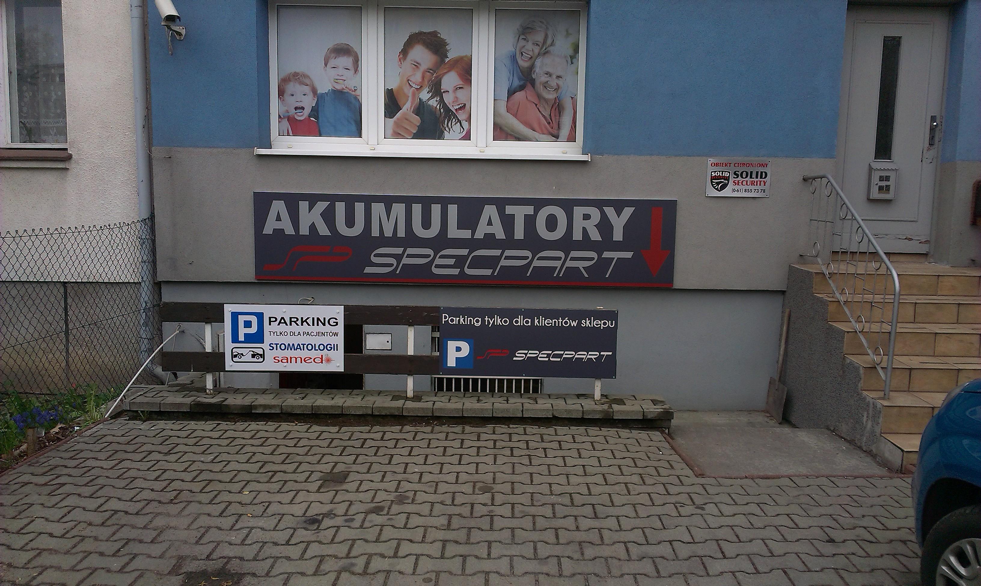 Szyld reklamowy akumulatory