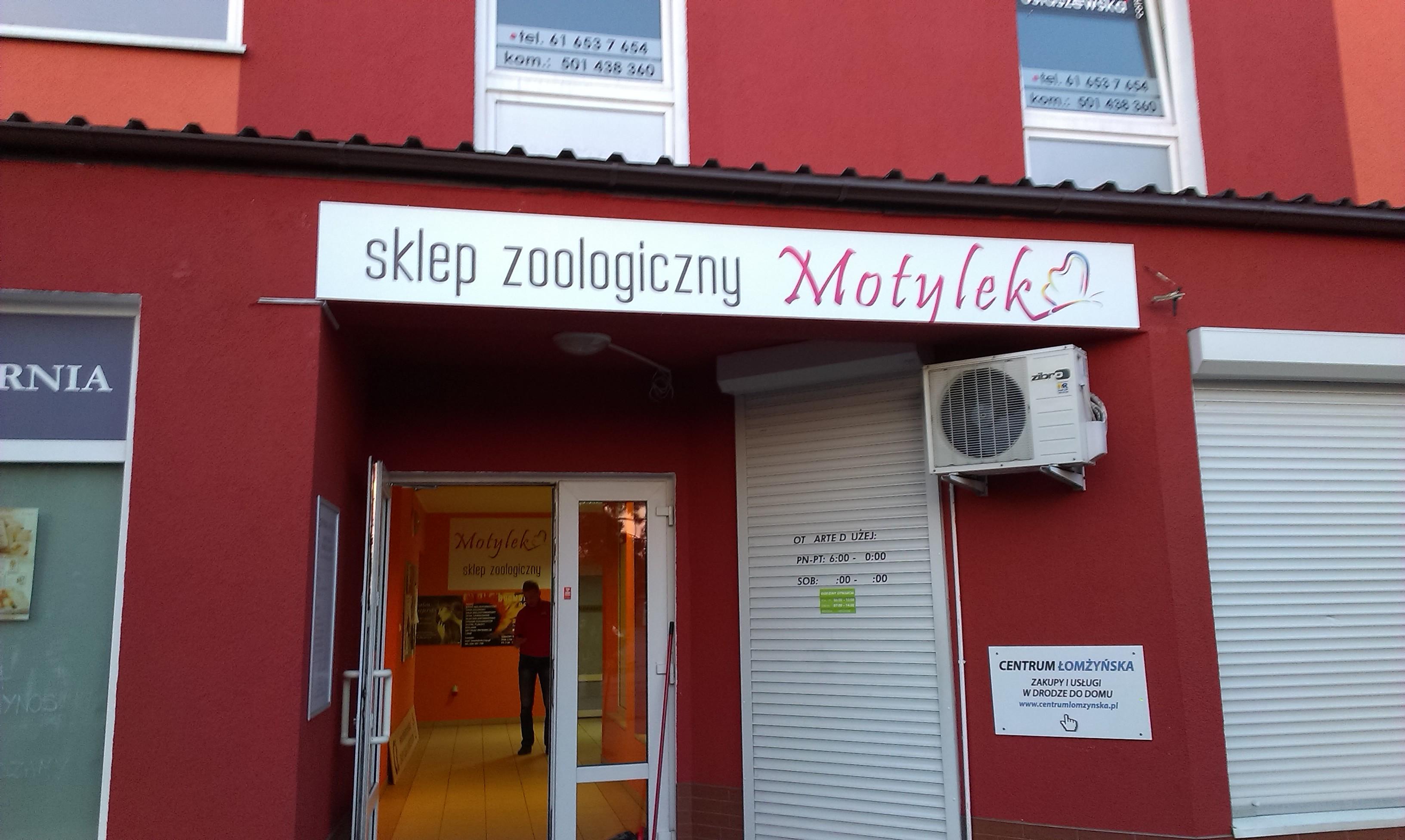 Szyld reklamowy sklep zoologiczny