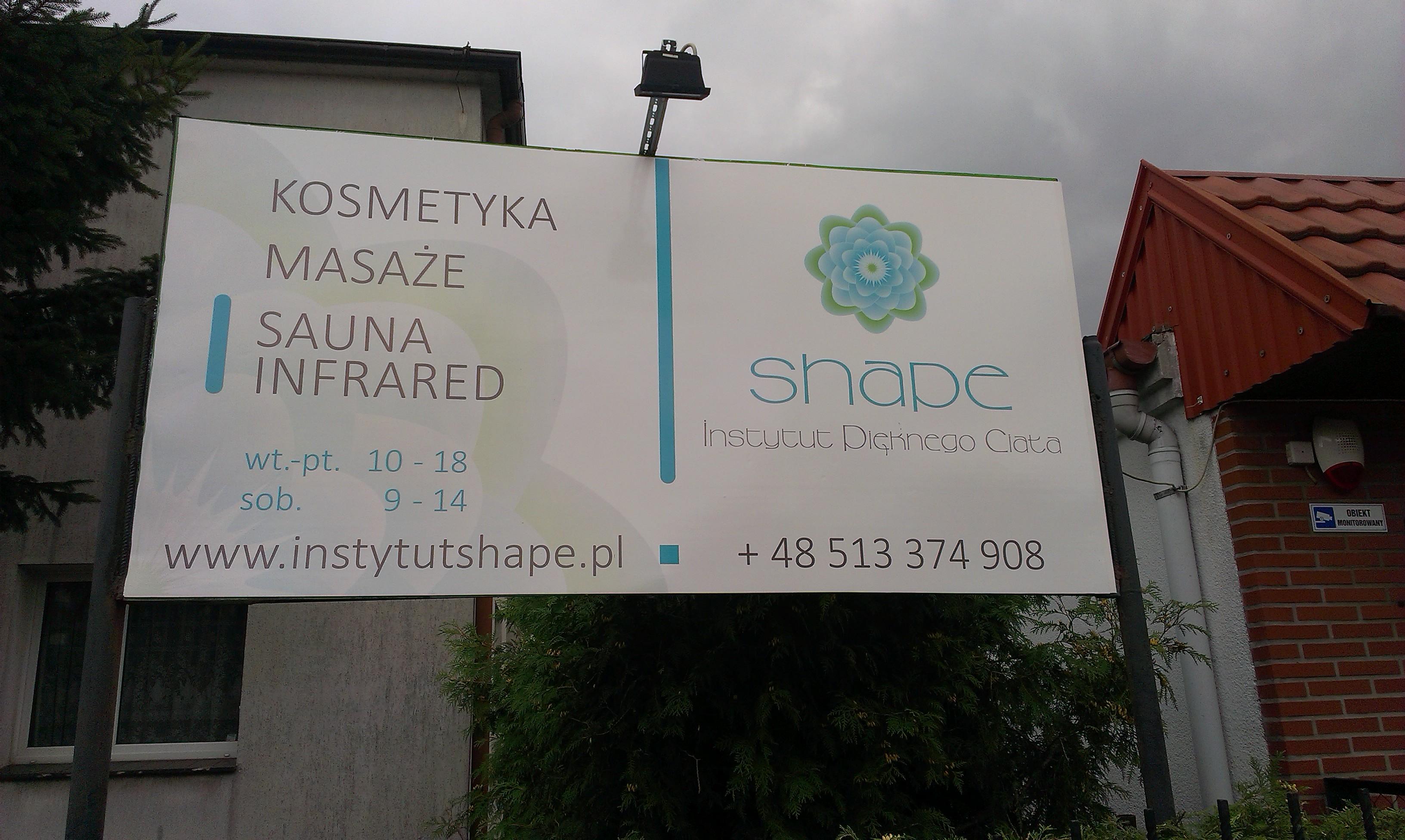 Tablica reklamowa salon kosmetyczny