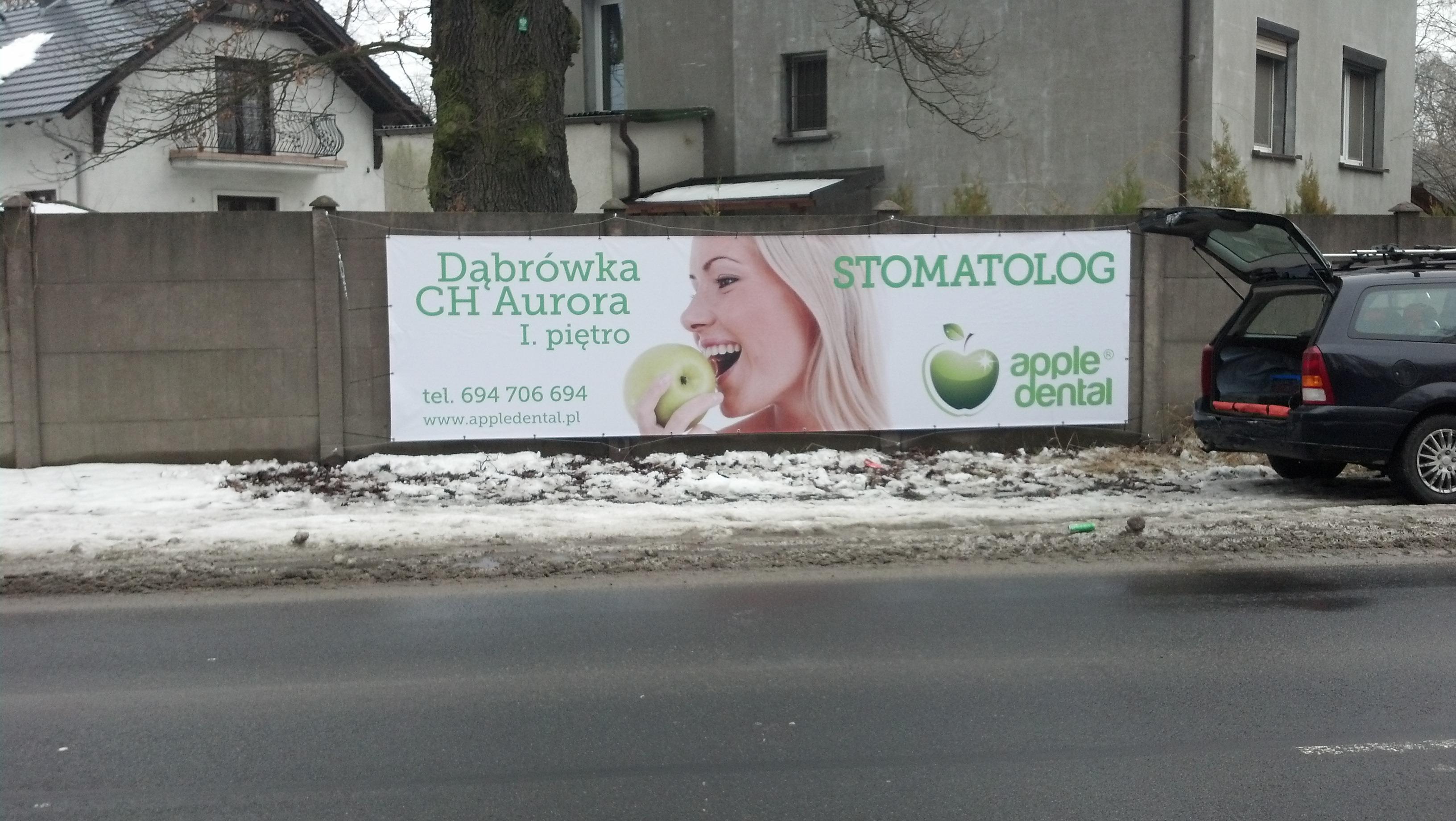 Baner odblaskowy Stomatologia