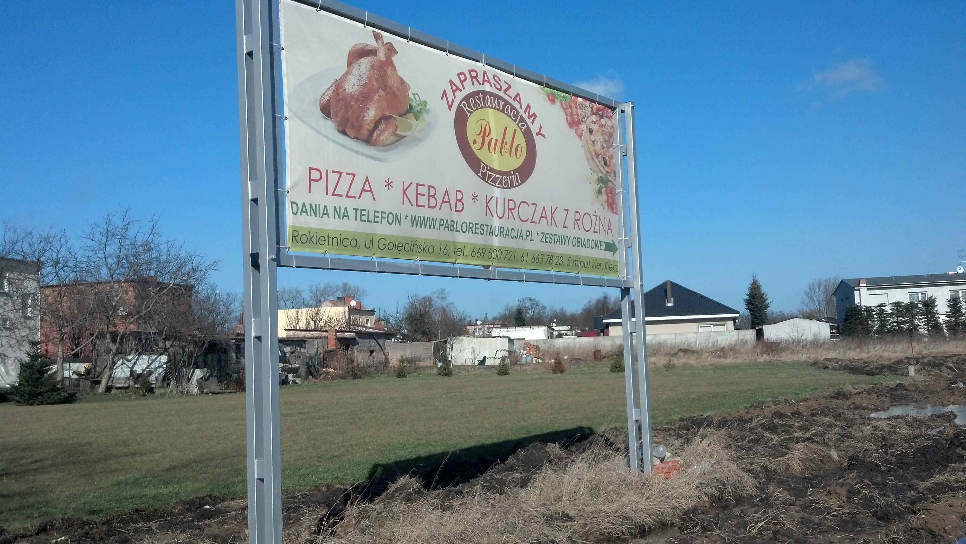 Baner reklama pizzeria kebab 2