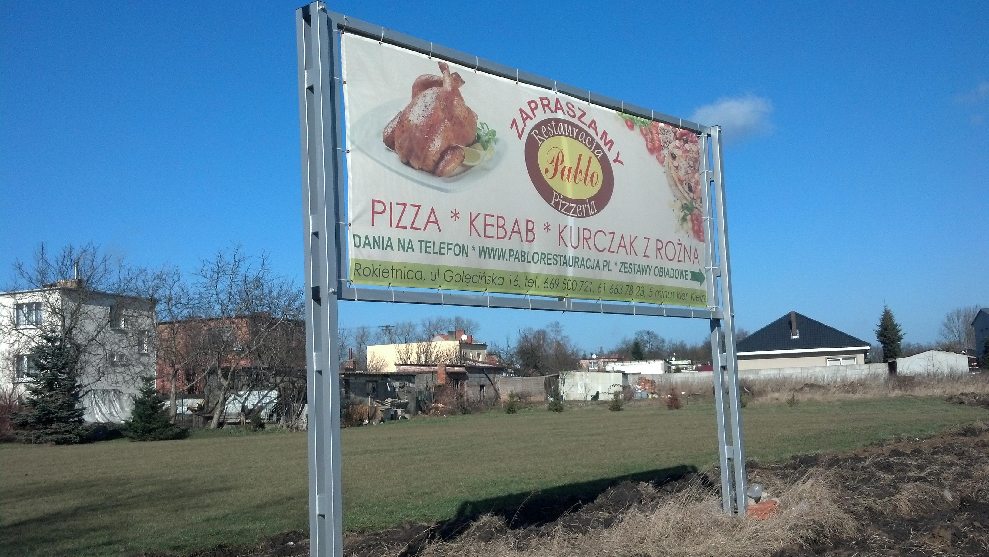 Baner reklama pizzeria kebab
