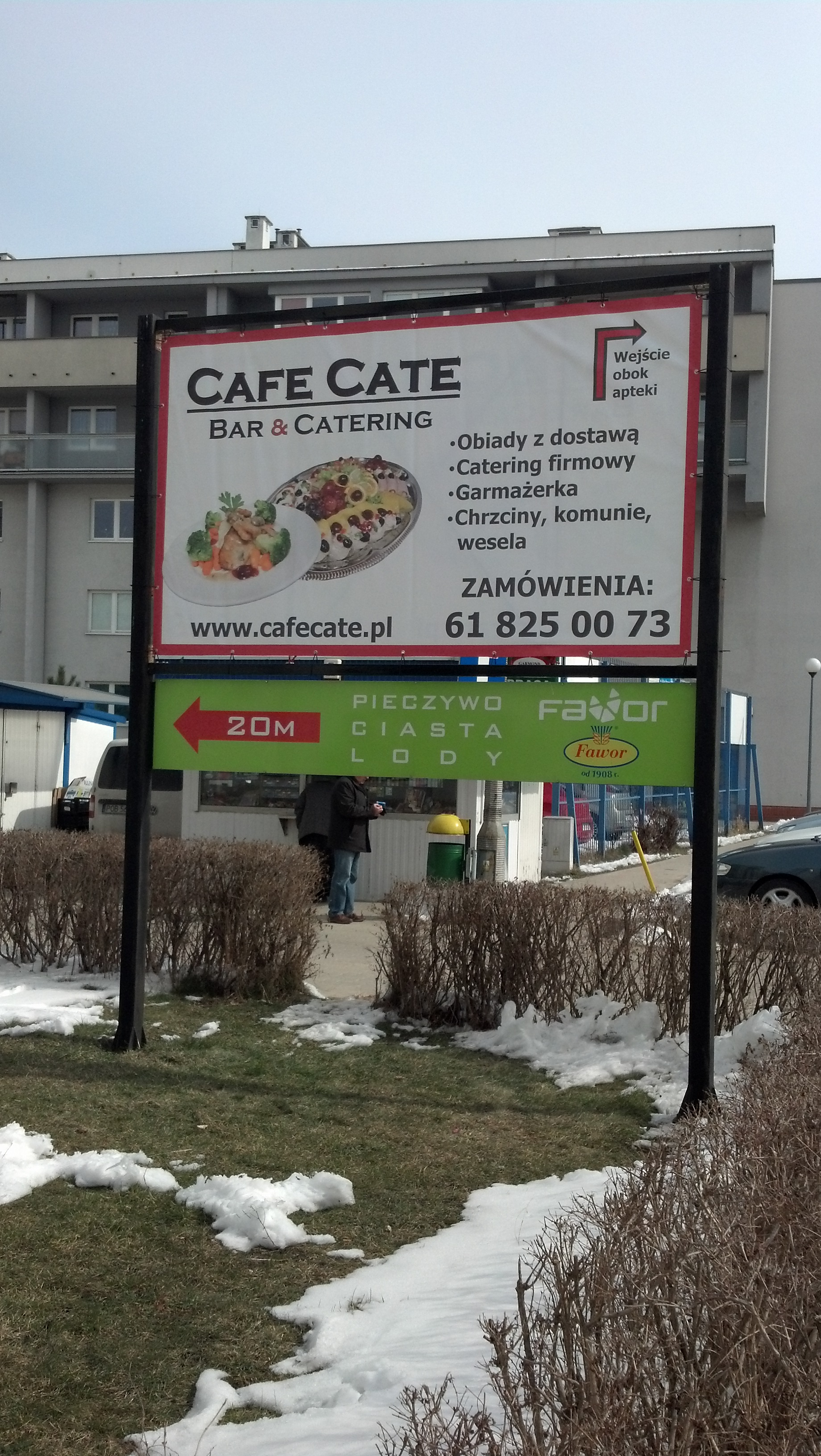 Baner reklamowy dla restauracji