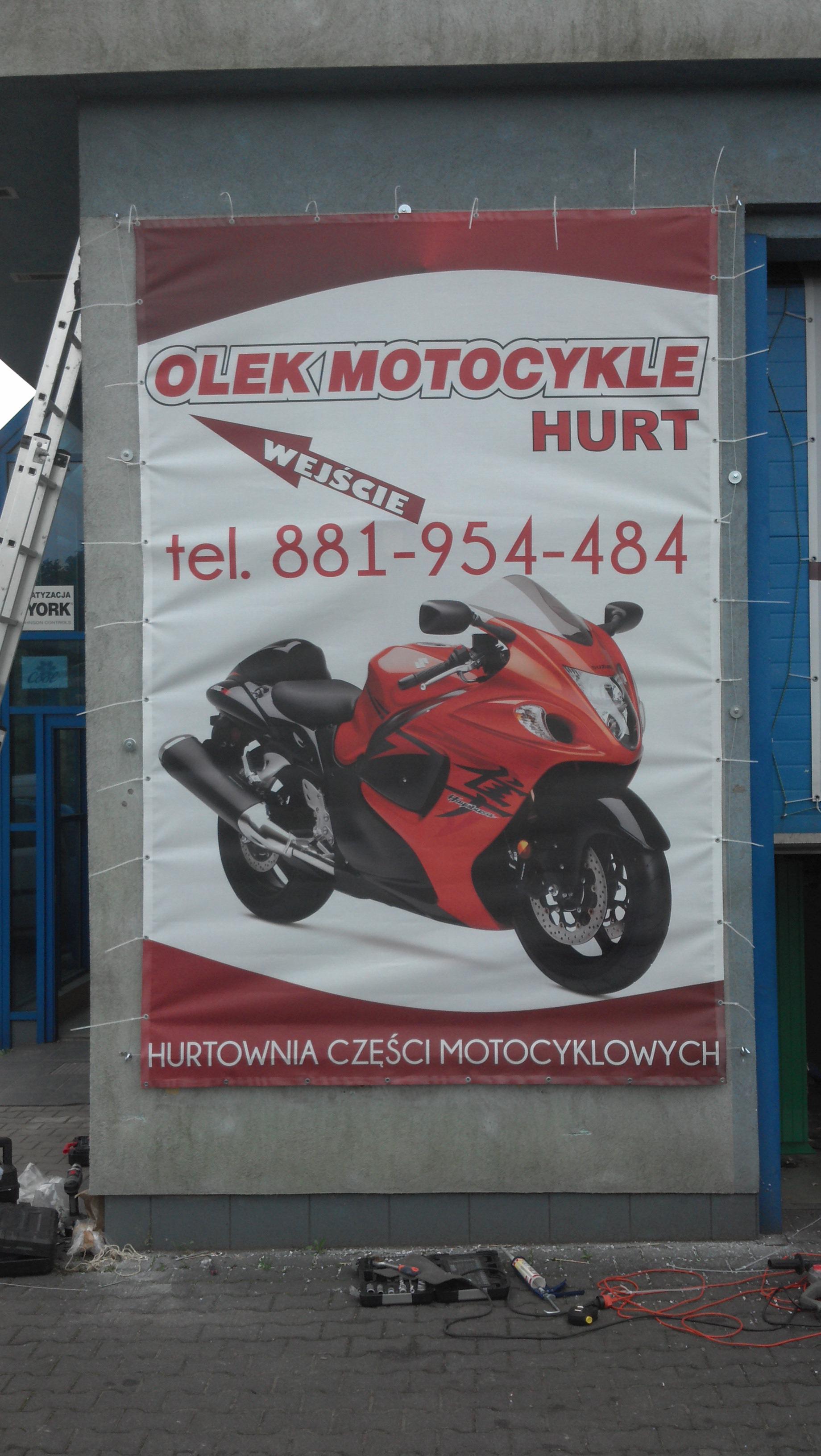 Baner Olek Motocykle