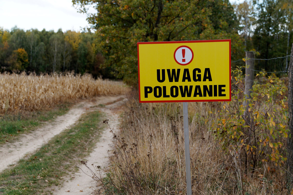 Tablice ostrzegawcze uwaga polowanie
